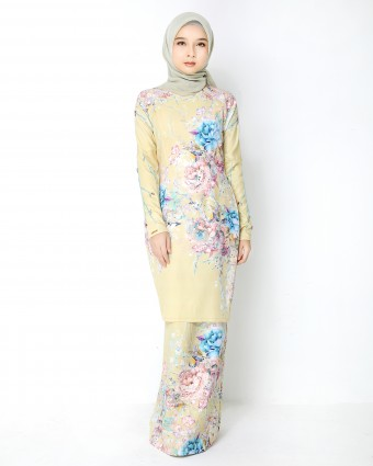 SECRET GARDEN KURUNG MODERN - SOFT LIME