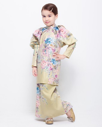 SECRET GARDEN KIDS KURUNG - SOFT LIME (XS-M)