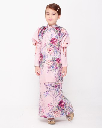 SECRET GARDEN KIDS KURUNG - SOFT PINK (XS-M)