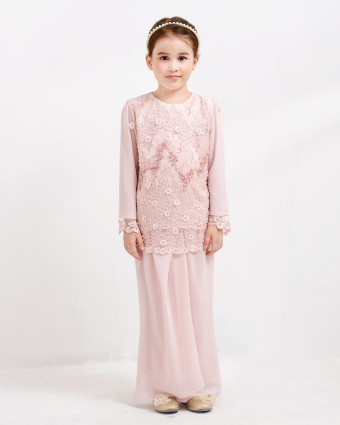 LAURA KIDS KURUNG PARIO - SOFT PINK (XS-M)