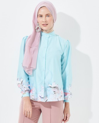 LIMPET SHELL PRINTED BLOUSE - TIFFANY