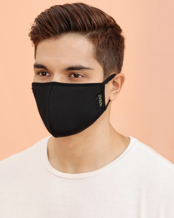 UNISEX MASK (EAR LOOP) + PACK OF 5 PM2.5 FILTERS - BLACK