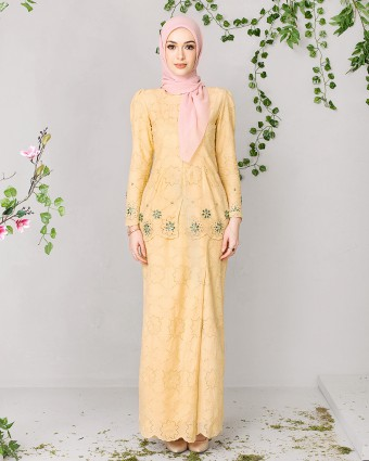 EMMA BASIC MINI KEBAYA - MILKY YELLOW