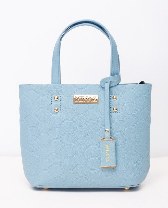 MINI MONOGRAM TOTE BAG - ICY BLUE