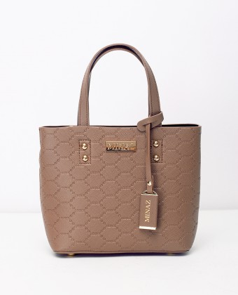 MINI MONOGRAM TOTE BAG - MOCHA