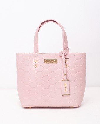 MINI MONOGRAM TOTE BAG - PASTEL PINK