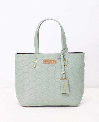 MINI MONOGRAM TOTE BAG - TIFFANY GREEN