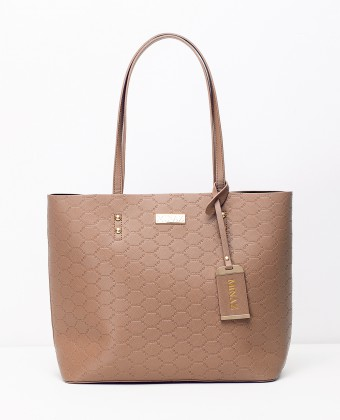 MEDIUM MONOGRAM TOTE BAG - MOCHA