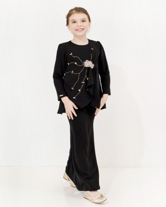NAILA KURUNG KIDS - BLACK (L-2XL)