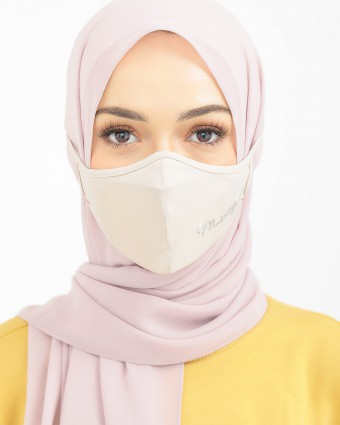 EMBELLISHED MASK (HEAD LOOP) + PACK OF 5 PM2.5 FILTERS - NUDE