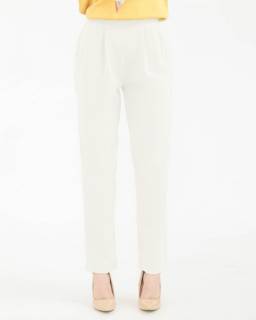 TAPERED PANTS - OFF WHITE