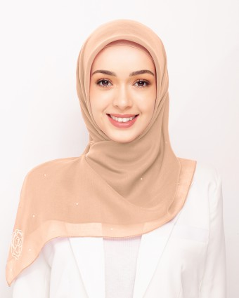 SECRET GARDEN PLAIN BAWAL - PEACH FUZZ