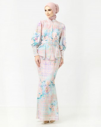 PEONY CHECKERED MINI KURUNG - ROSE PINK