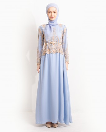 QISTINA LACEY DRESS - ICY BLUE