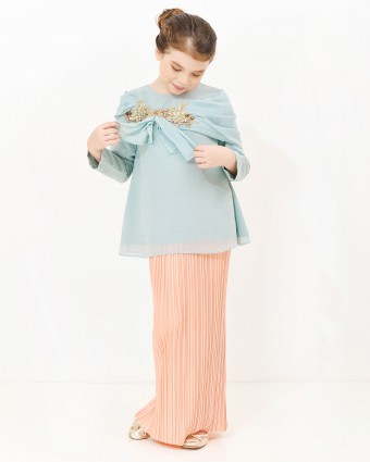 RHEANA KURUNG KIDS - TIFFANY PEACH (XS-M)