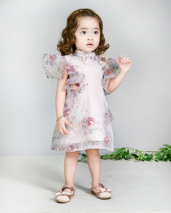 SECRET GARDEN BABY DRESS - SOFT PINK