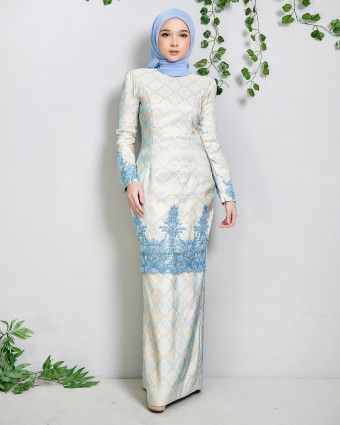 MAREAM KURUNG SONGKET - YELLOW