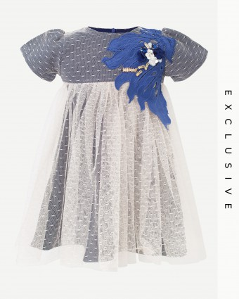 STELLA LACEY PRADA BABY DRESS - DARK BLUE