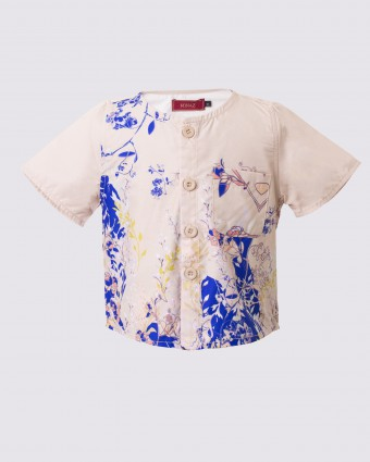 SWEETPEA BABY SHIRT - SOFT YELLOW