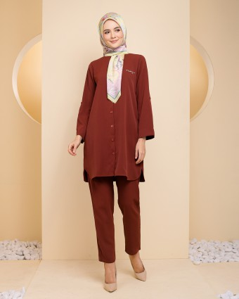 TANIA TUNIC - BRICK RED