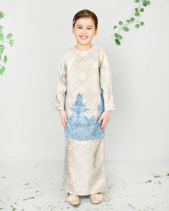 MAREAM KIDS KURUNG SONGKET - YELLOW (XS-M)