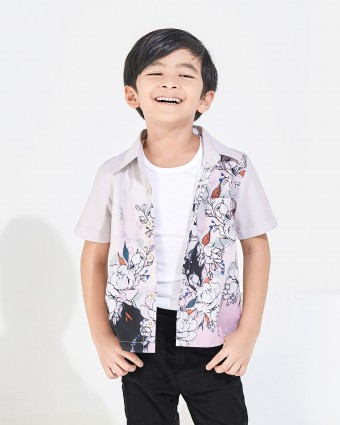 ALTHEA KIDS SHIRT - BEIGE (XL-3XL)
