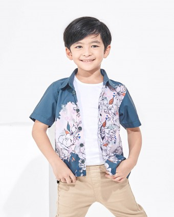 ALTHEA KIDS SHIRT - EMERALD GREEN
