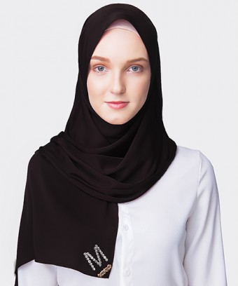 PLAIN PREMIUM HIJAB M SHAWL- BLACK