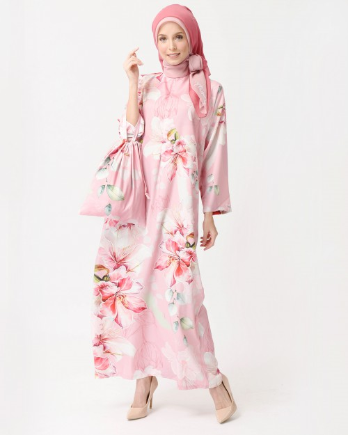 BOUGAINVILLEA KAFTAN - DUSTY PINK