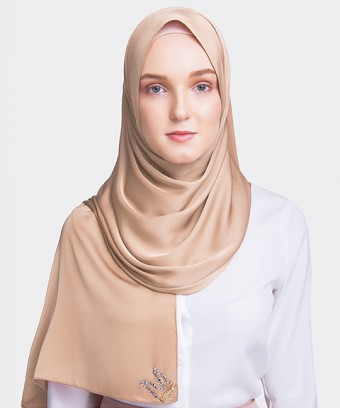 PLAIN PREMIUM HIJAB M SHAWL - DUSTY PEACH