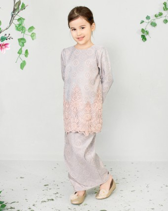 FATEEMA KIDS MINI KURUNG SONGKET - DUSTY PURPLE (XS-M)