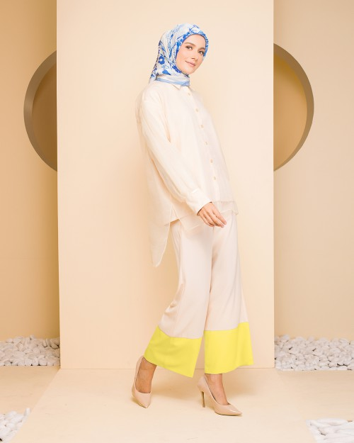 LAYLA ORGANDI SUIT - CREAM YELLOW