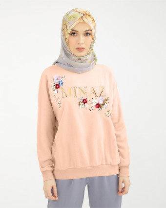 LUXE SWEATSHIRT - DUSTY PEACH