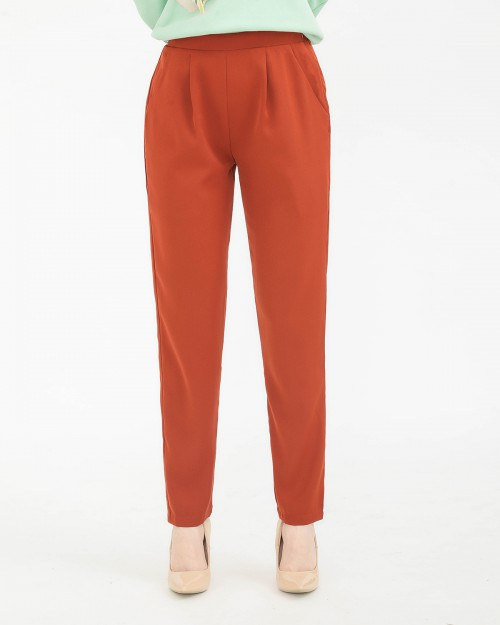 TAPERED PANTS - TERRACOTTA