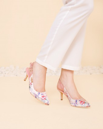 ENGLISH PORCELAIN HEELS - CREAM PINK