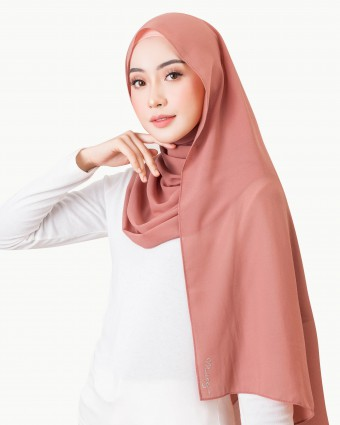 BASIC SHAWL - APRICOT BRANDY | AS-IS