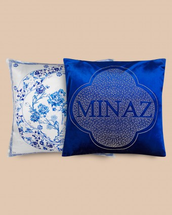COMBO B | ASIAN +  PLAIN BLUE PILLOW CASE