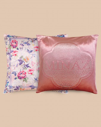 COMBO A |  ENGLISH + PLAIN PINK PILLOW CASE