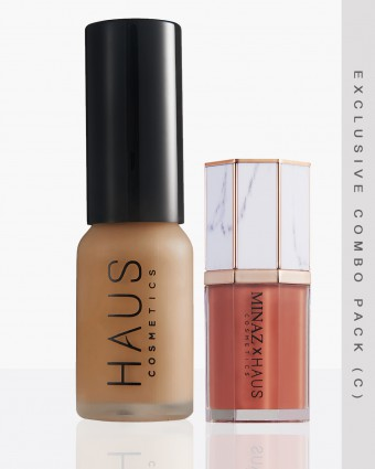 MINAZ X HAUS (C) - DARK FOUNDATION + NADEERA LIPCREAM