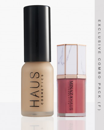 MINAZ X HAUS (F) - LIGHT FOUNDATION + JANEELA LIPCREAM