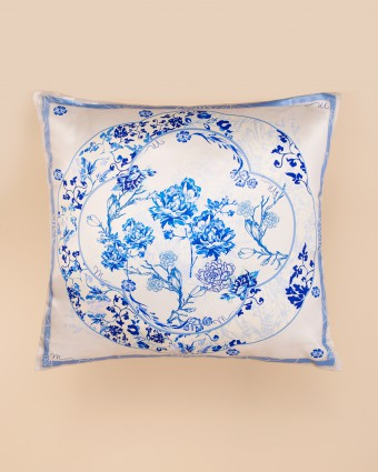 ASIAN PILLOW CASE -  BLUE WHITE