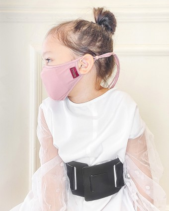 UNISEX KIDS MASK (HEAD LOOP) + PACK OF 5 PM2.5 FILTERS - PASTEL PINK