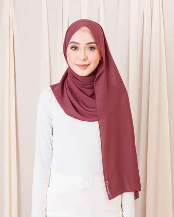 BASIC SHAWL - POMPEIAN RED