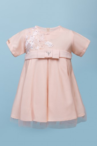 RAMONA BABY DRESS - CHAMPAGNE