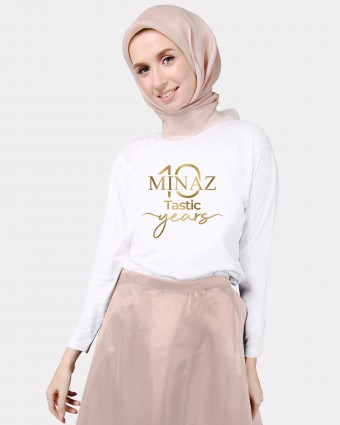 MINAZ TEN-TASTIC BASIC SHIRT - WHITE