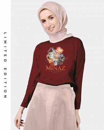 MINAZ LOVERS BASIC SHIRT - MAROON