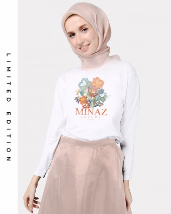 MINAZ LOVERS BASIC SHIRT - WHITE